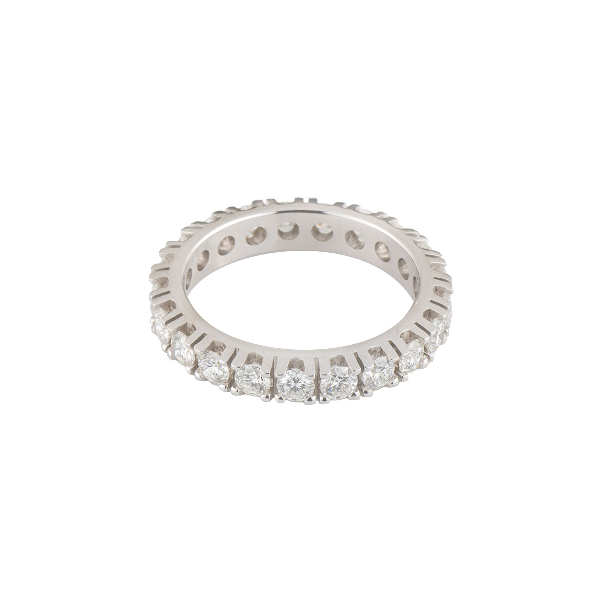 White Gold Full Diamond Ring 1.75ct G/VS